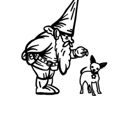 Gnome and Dog Decal