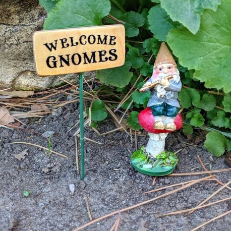 Welcome Gnomes Sign6