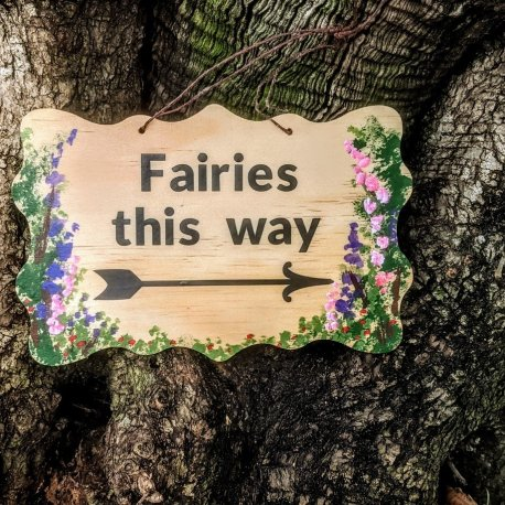 Fairies This Way Sign2