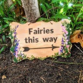 Handpainted Fairy Garden Sign