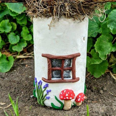 Mossy Top Light Up Fairy House4