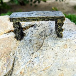 Outdoor Tuffet Fairy Bench