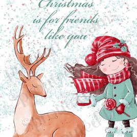 Christmas Friends Like You Card