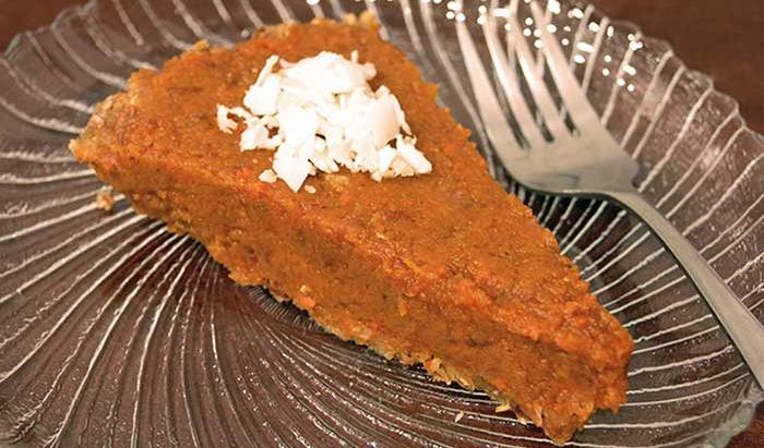 Raw Pumpkin Pie.. its a Dream Come True!