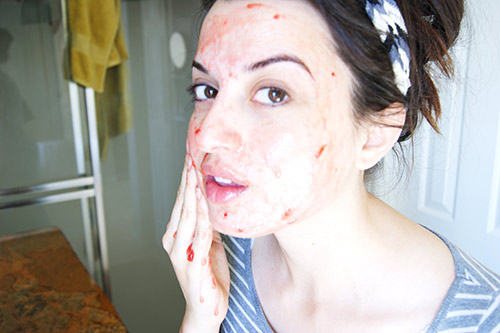 strawberry facial scrub
