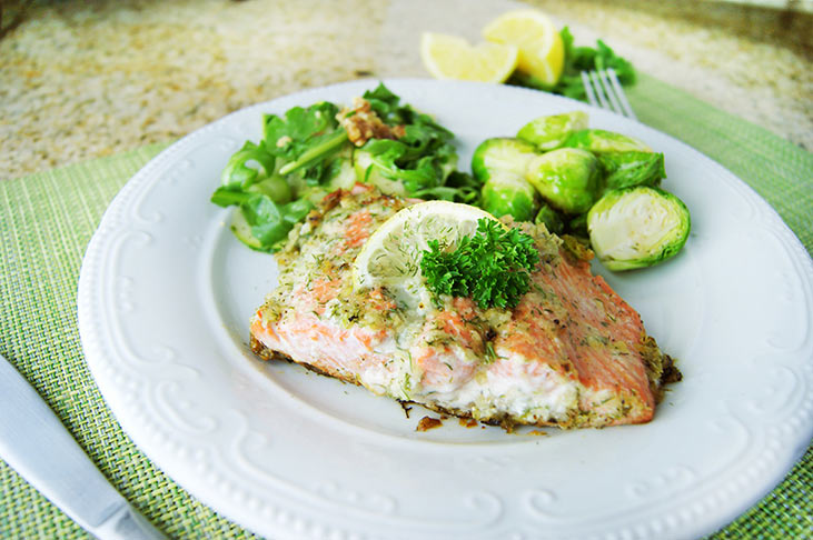Seared Salmon with Lemon and Dill