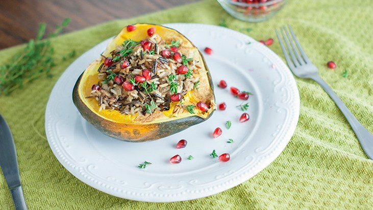 Fall Acorn Squash and Wild Rice