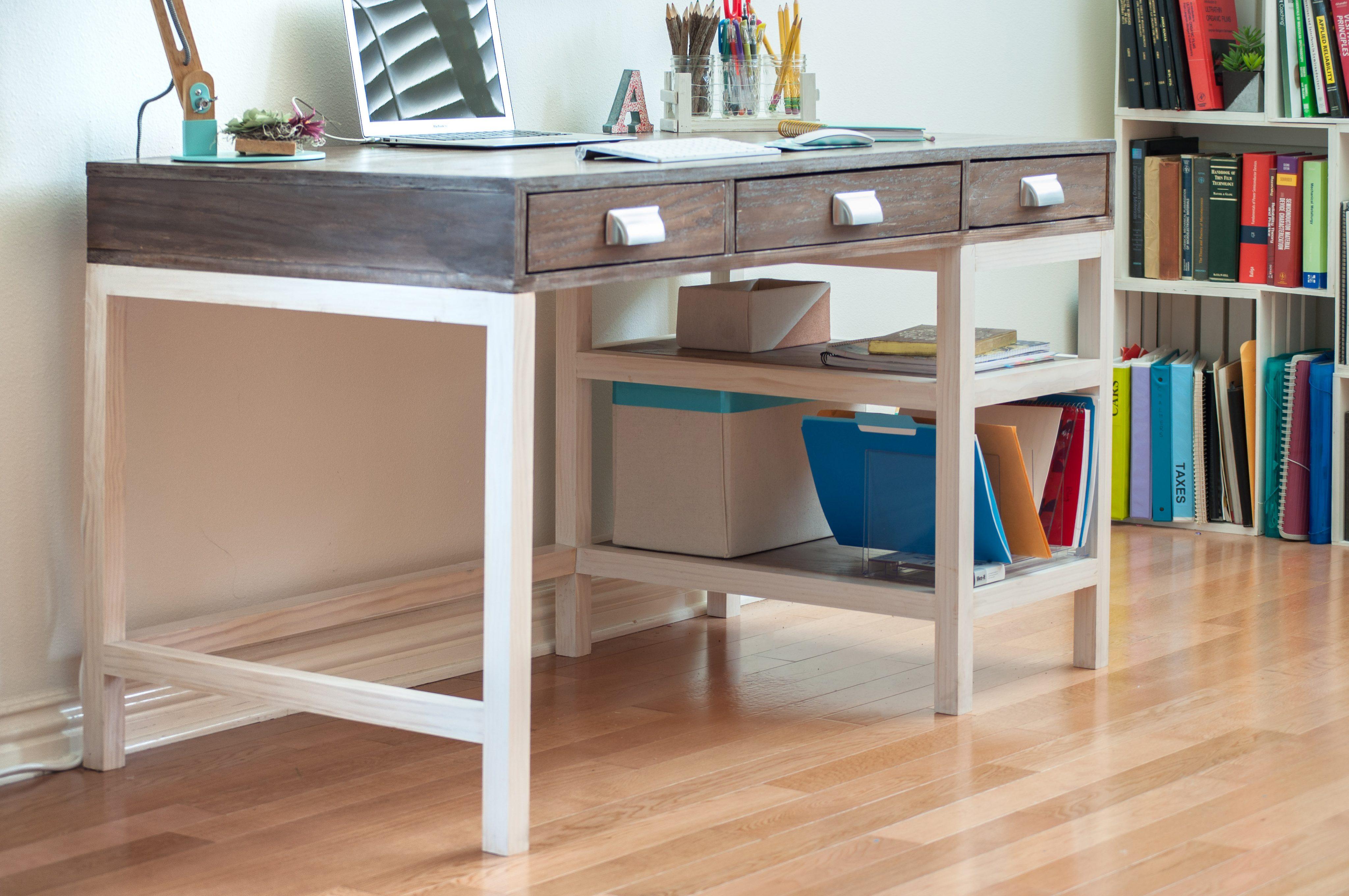 Modern Farmhouse Desk With 3 Drawers Spruc D Market