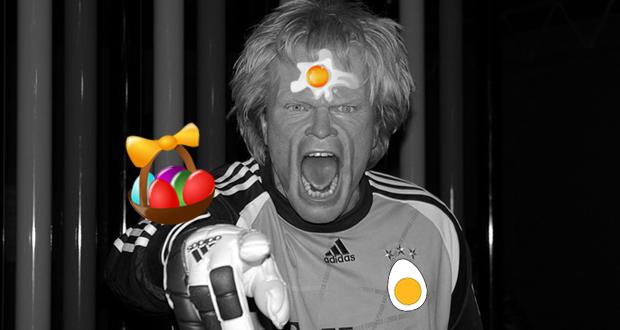 """Oliver Kahn mit dem Spruch """"Eier, wir brauchen Eier!"""""""