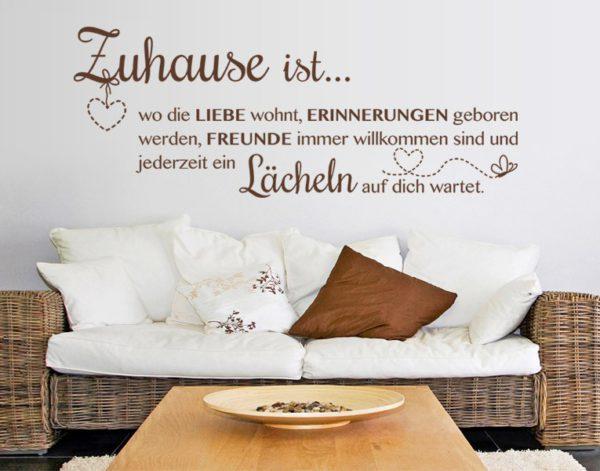 Zuhause ist... wo die LIEBE wohnt, ERINNERUNGEN geboren werden, FREUNDE immer willkommen sind und jederzeit ein Lächeln auf dich wartet.