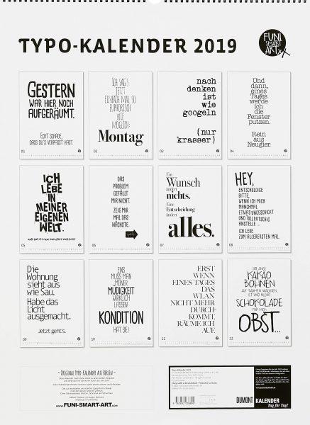 Sprüche-Kalender 2019 von FUNI SMART ART im Poster-Format