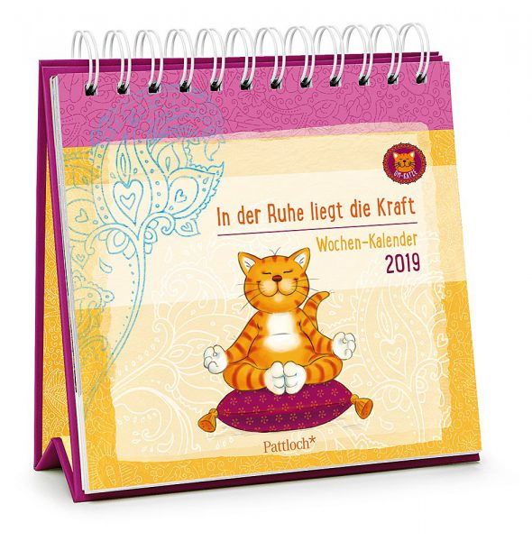 Om-Katze: In der Ruhe liegt die Kraft - Wochen-Kalender 2019