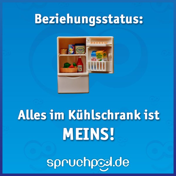 Beziehungsstatus: Alles im Kühlschrank ist meins!