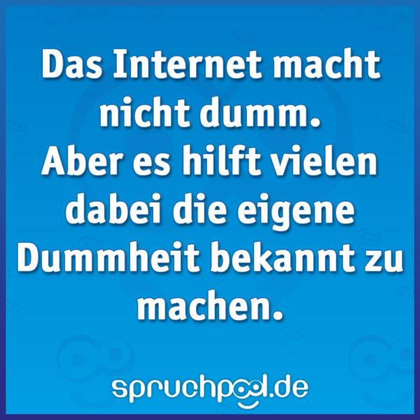 Das Internet macht nicht dumm. Aber es hilft vielen dabei die eigene Dummheit bekannt zu machen.