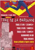 Affiche trail de la Barousse
