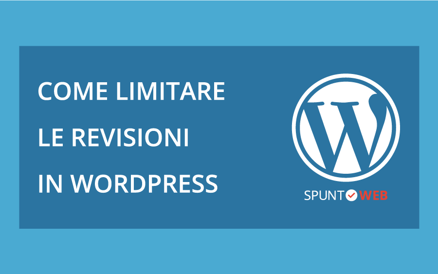 Come limitare le revisioni in wordpress - copertina con logo
