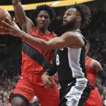 Short-Handed Spurs Edge Blazers on the Road