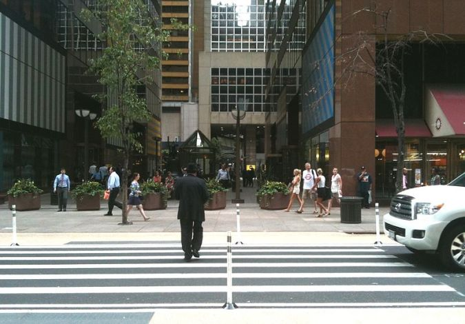 A relatively new crossing at Six and a Half Avenue in NYC [Wikipedia]