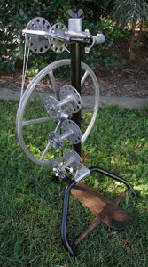 German wheel front view