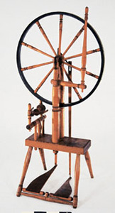 """A. WEBSTER"" single wheel with double treadle"