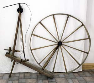 """Pendulum wheel marked """"H. ROW MAKER KEMPTVILLE"""""""