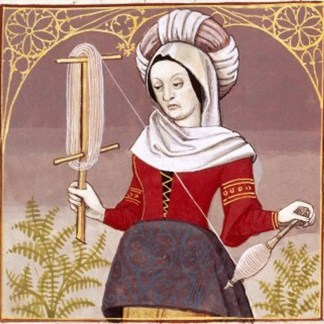Veturia, the mother of Coriolanus, from a 15th- or 16th-century book about famous women of the past.