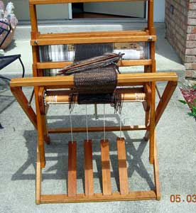 Dorset four-shaft loom by Frank Clifton Wood.
