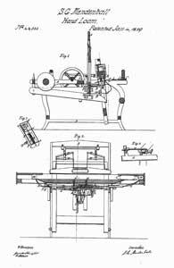 S. C. Mendenhall's Hand Loom, Patent #22,533, Jan 4, 1859.