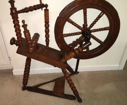 Flax wheel dated 1754.