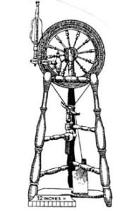 Figure 15: Bobbin/flyer below drive wheel.