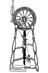 Figure 15: Bobbin/flyer below drive wheel.