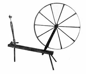 Horizontal spindle wheel from the collection of Michael Taylor.