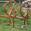Dryad wheel is on the left, and the Gylland wheel on the right. Courtesy of Dorothy Lumb.