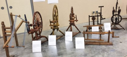 Kim's display. Three reels, three single-flyer wheels and one double flyer.