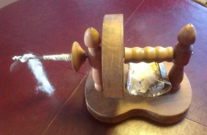 Unusual tabletop spindle.