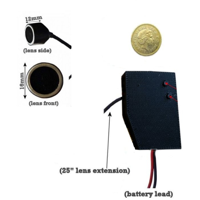 Hidden Car Mic Transducer Sensor Camera Module