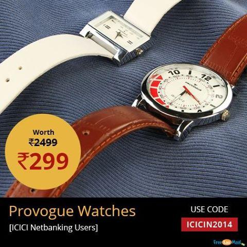 Provogue Coupon Code: Extra 15% Off on Fashion Shop from Shop Clothing & Apparels, Footwear, Fashion Accessories, Sunglasses, Watches, Jewelry, Bags, Backpacks, Wallets, for Men, Women & Kids and get Extra 15% discount.