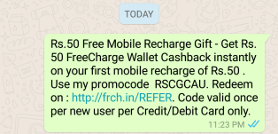 freecharge referral code