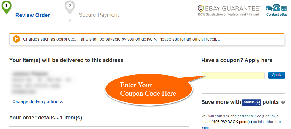 ebay new account coupon code