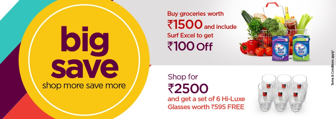 Save on your weekly shop with these amazing discounts and offers available right now at Bigbasket