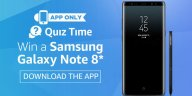 galaxy note 8 amazon quiz