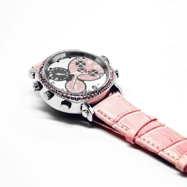 females pink womens spy camera watch