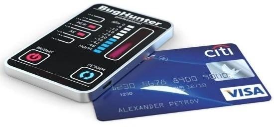 credit car bug detector