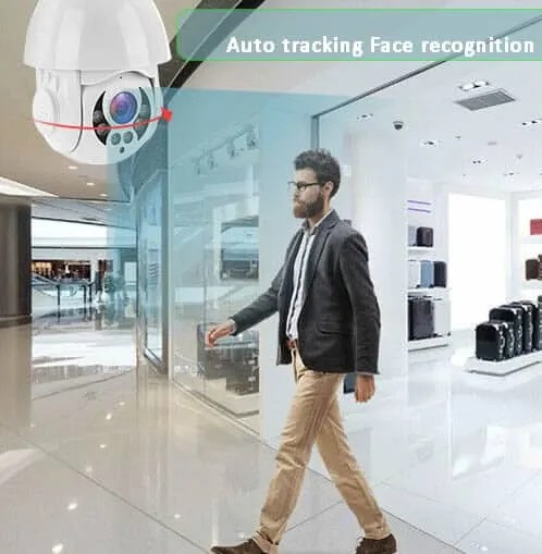 wireless outdoor cctv auto tracing ptz on movement