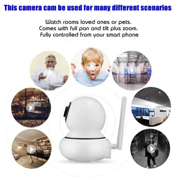 wifi camera surveillance mode with face tracking