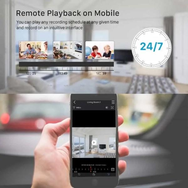 Remote CCTV playback