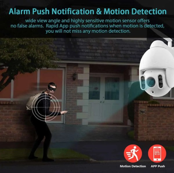 movement detection push for camera