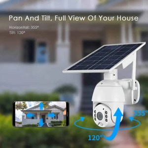 Solar power zoom ptz camera