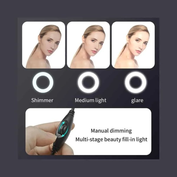 Webcam adjustable lighting effects