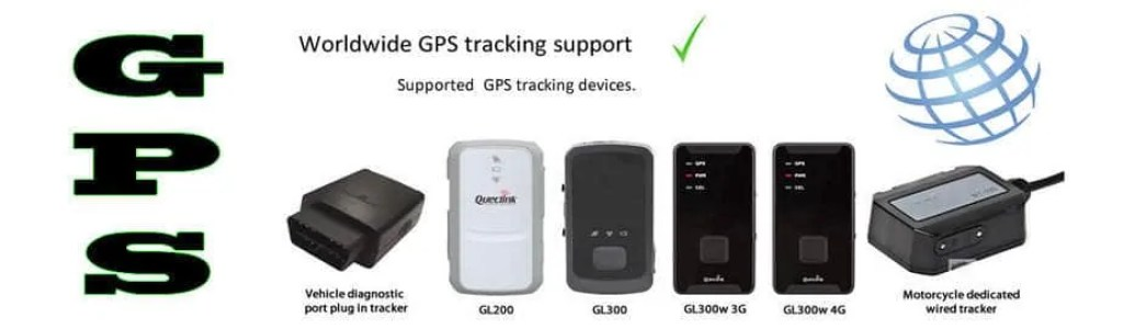 Supported GPS tracking systems
